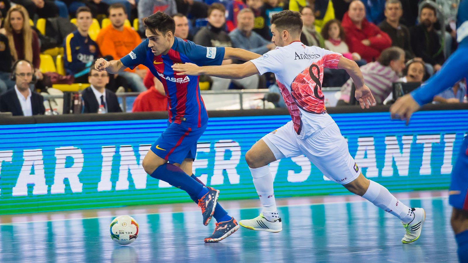 Diego Quintela, con el F.C. Barcelona Lassa 1