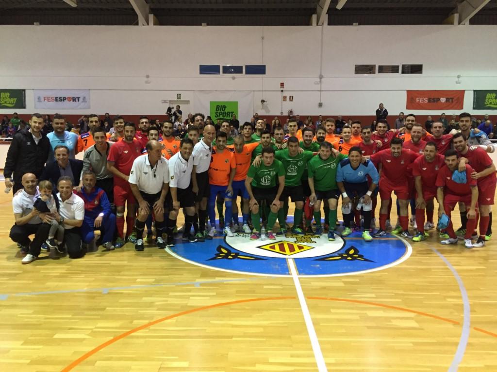 Visita del Palma Futsal a Menorca para colaborar con el fútbol sala menorquín