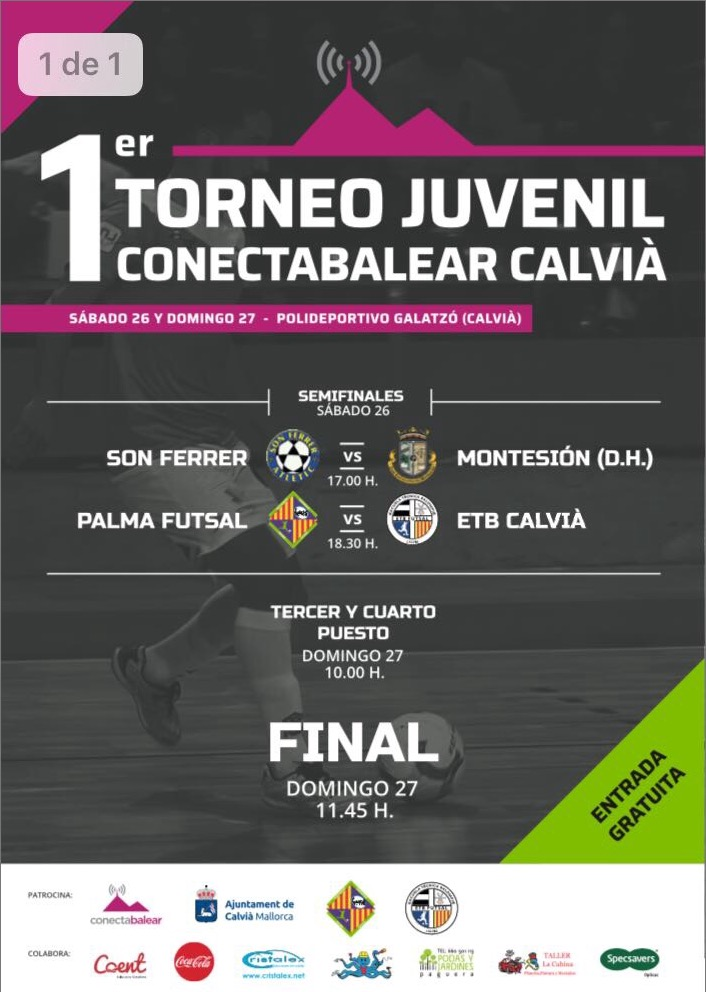 Cartel torneo juvenilen Calvià