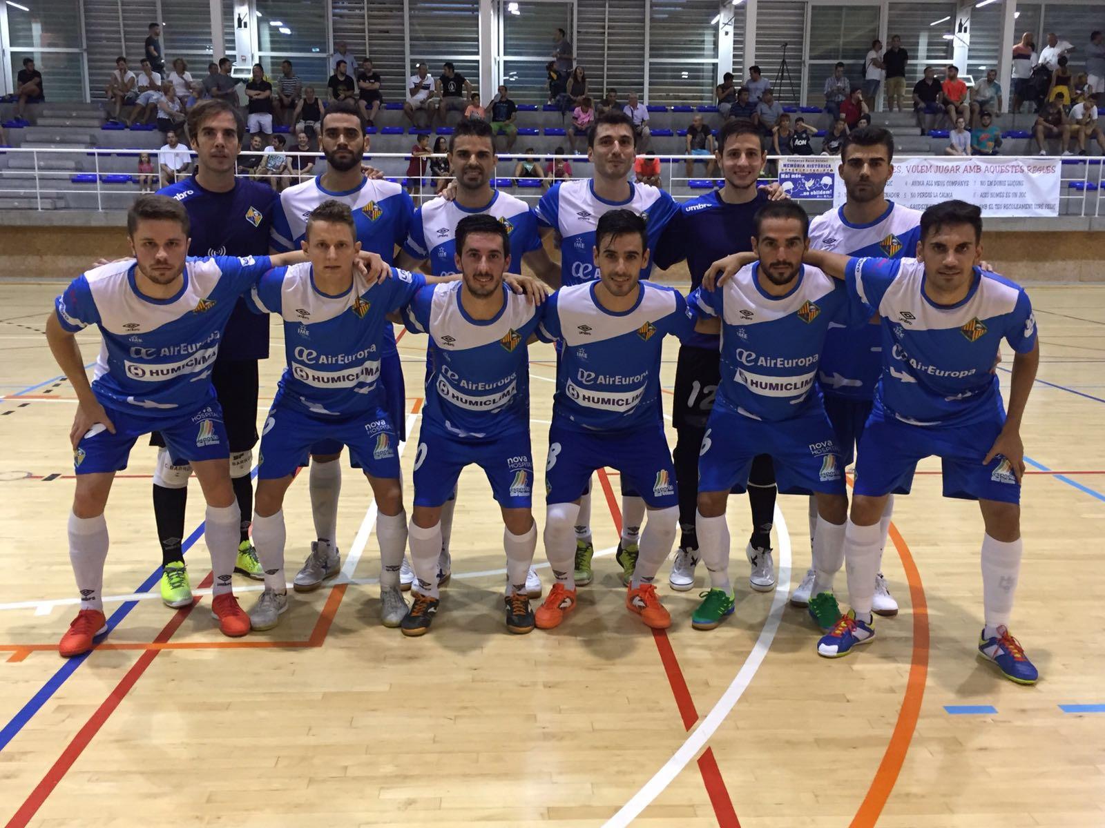 Formación del Palma Futsal ante el Catgas