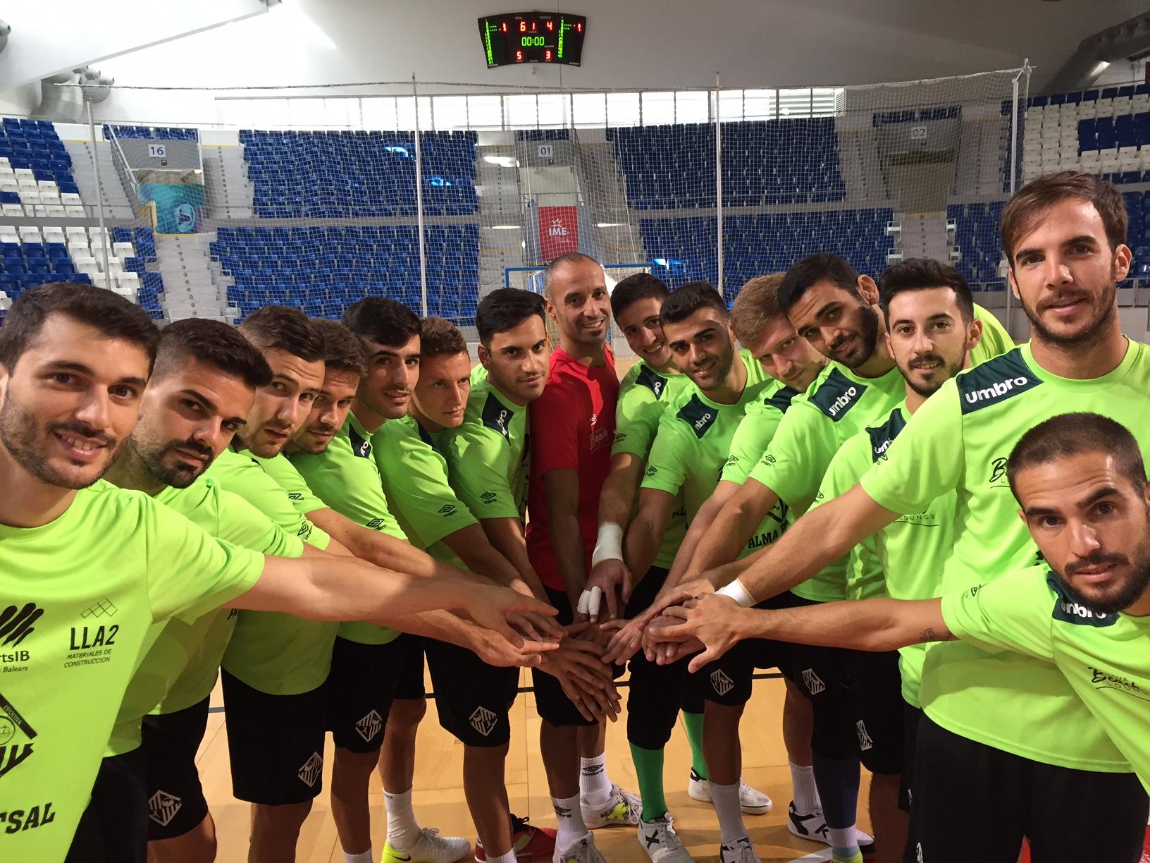 El Palma Futsal posa en Son Moix 1