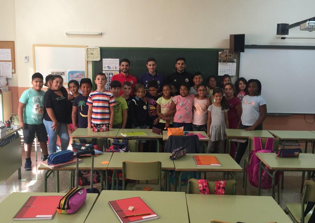 Sarmiento y Quintela visitan el CP Felip Bauçà 1 (Copiar)