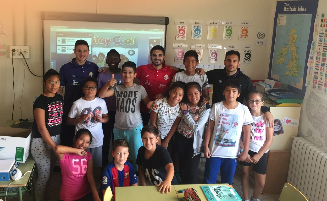 Sarmiento y Quintela visitan el CP Felip Bauçà 2 (Copiar)