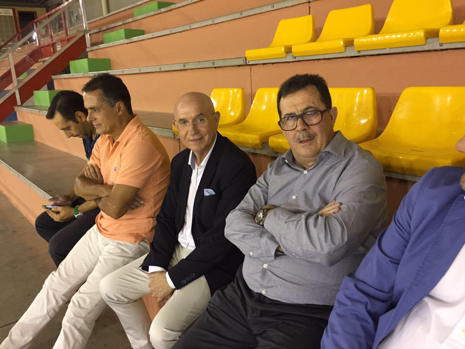 Serra Ferrer estuvo en el palco del Betis - Palma Futsal 2