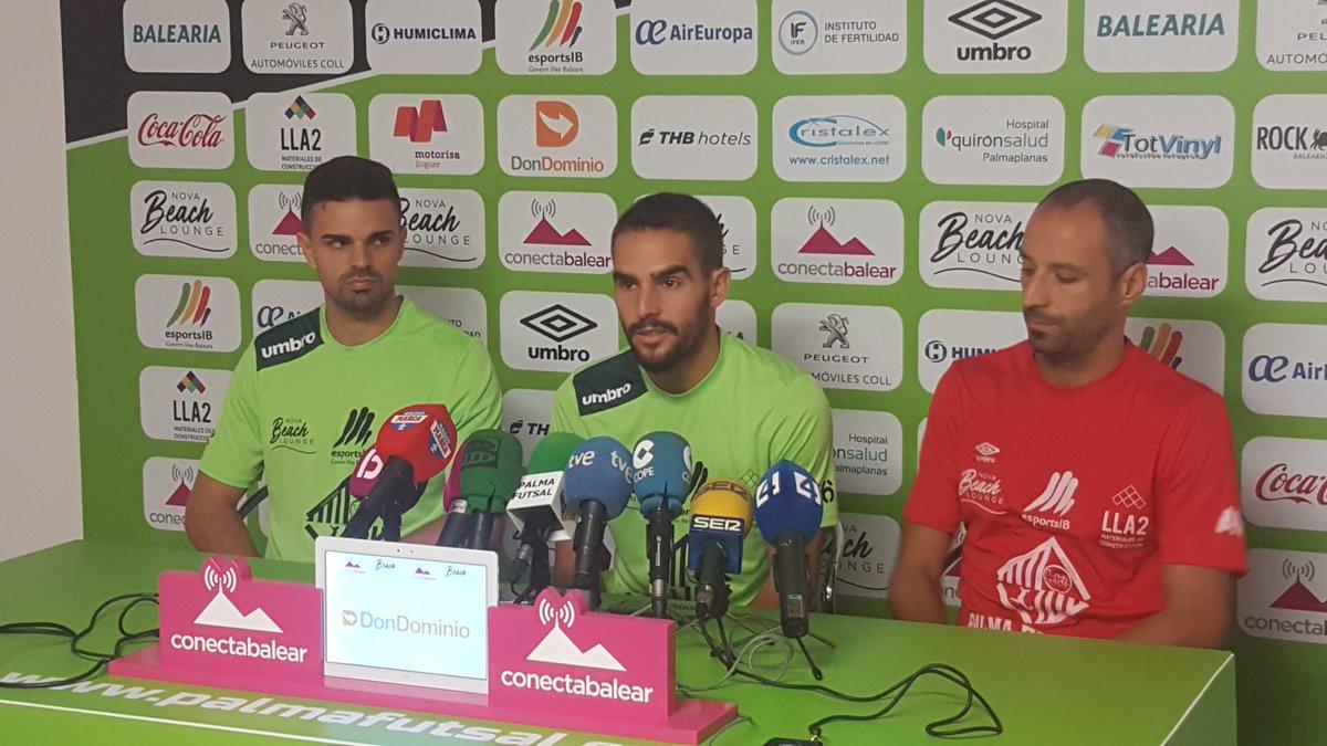 Vadillo, Favero y Chicho en la rueda de prensa 2
