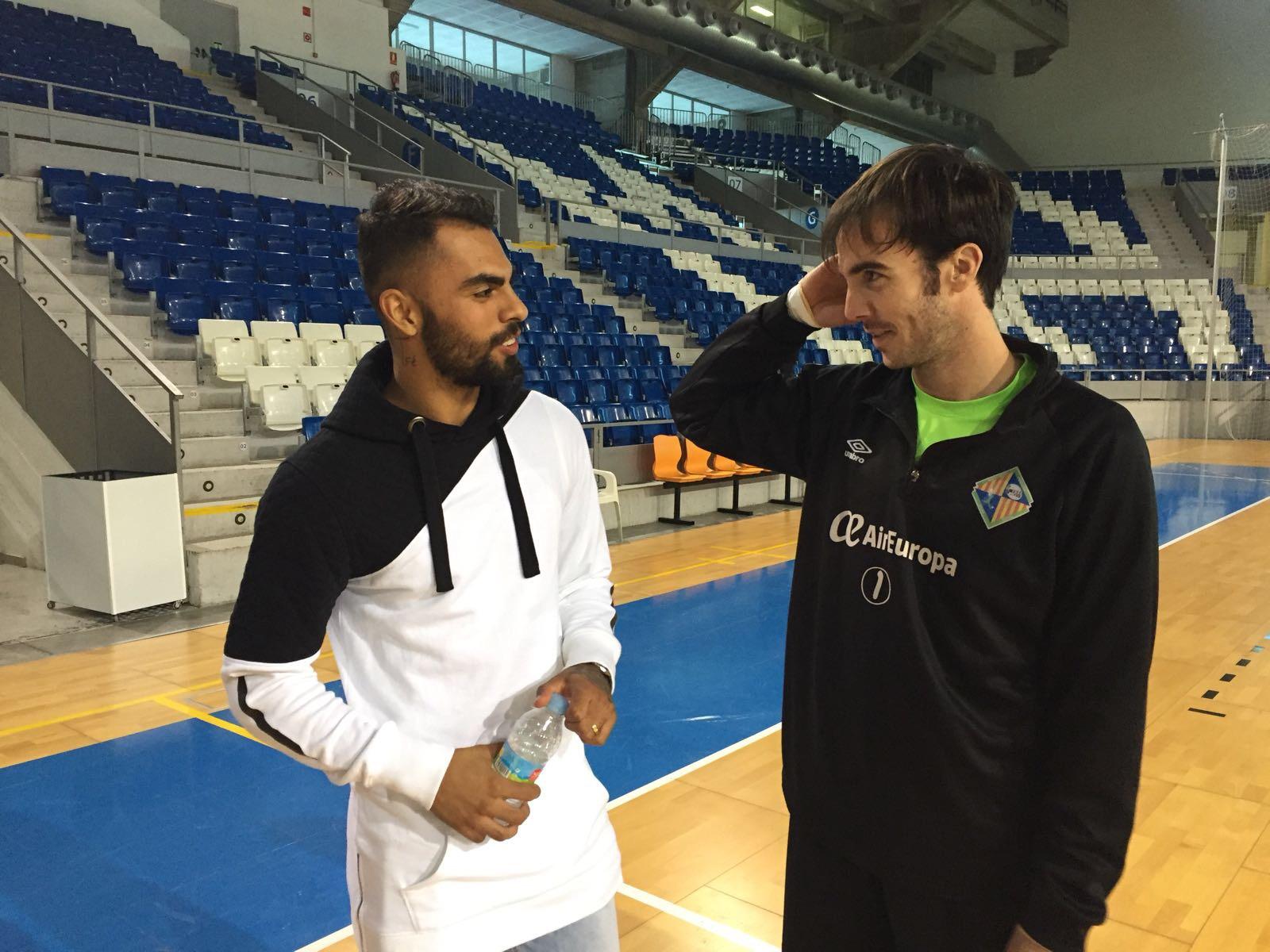 Diego Nunes conoció al capitán del Palma Futsal, Carlos Barrón 2