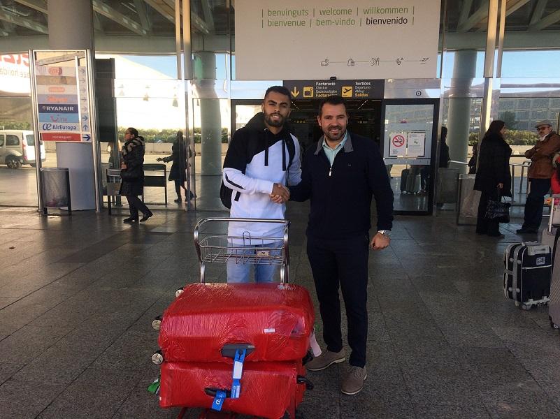 web Diego Nunes a su llegada a Palma junto a José Tirado 1
