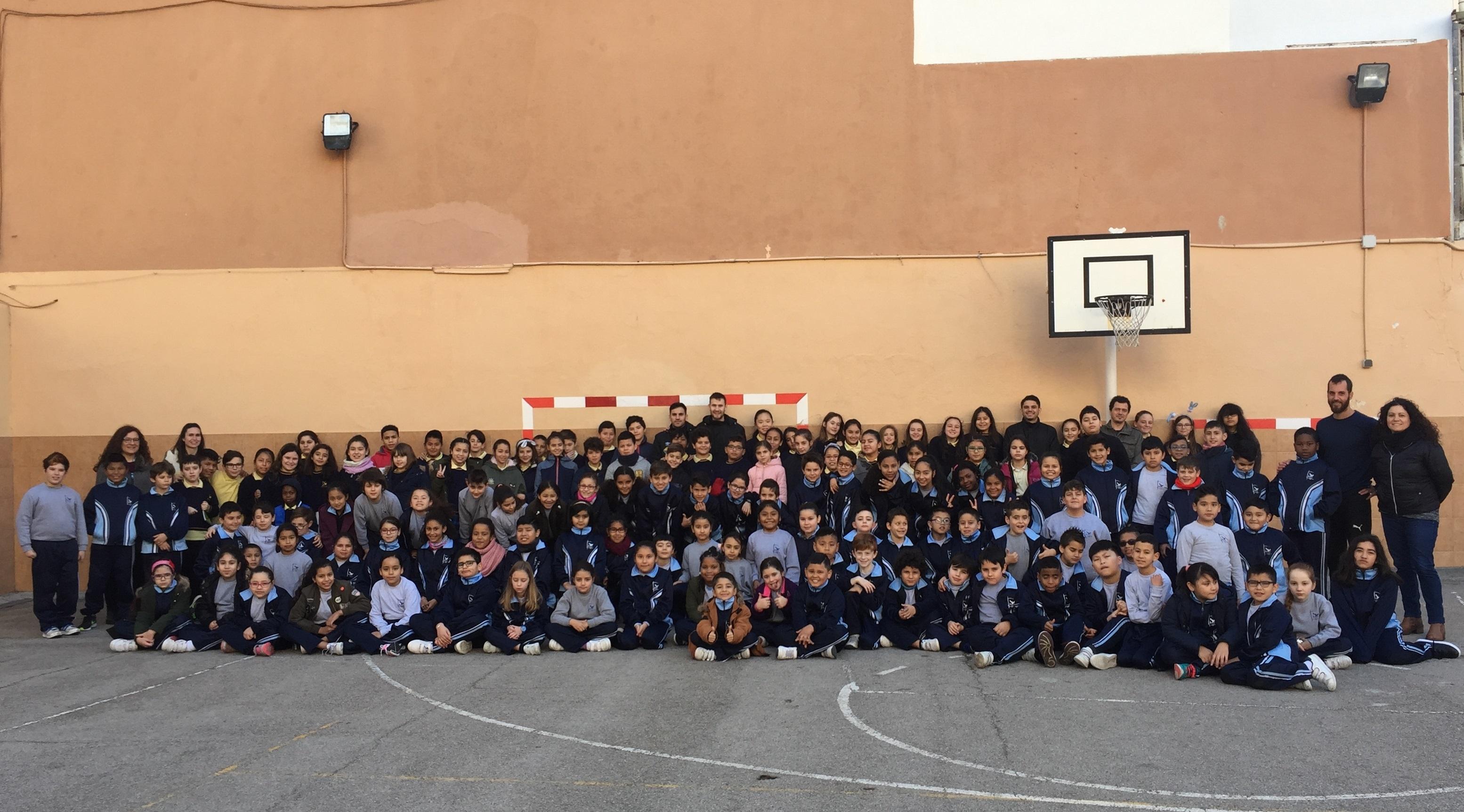 Diego Quintela y Paradynski visitaron el colegio Sant Francesc dassis