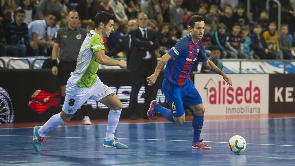 Joao, ante el Palma Futsal, la pasada temporada