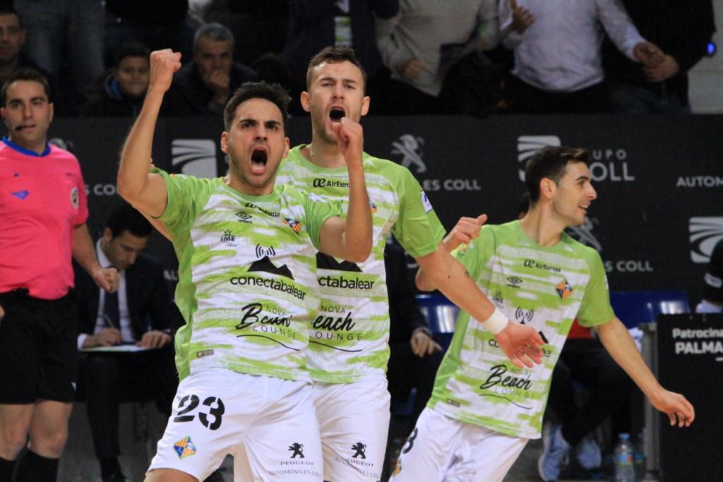 Diego Quintela celebra un gol en un partido de la pasada temporada