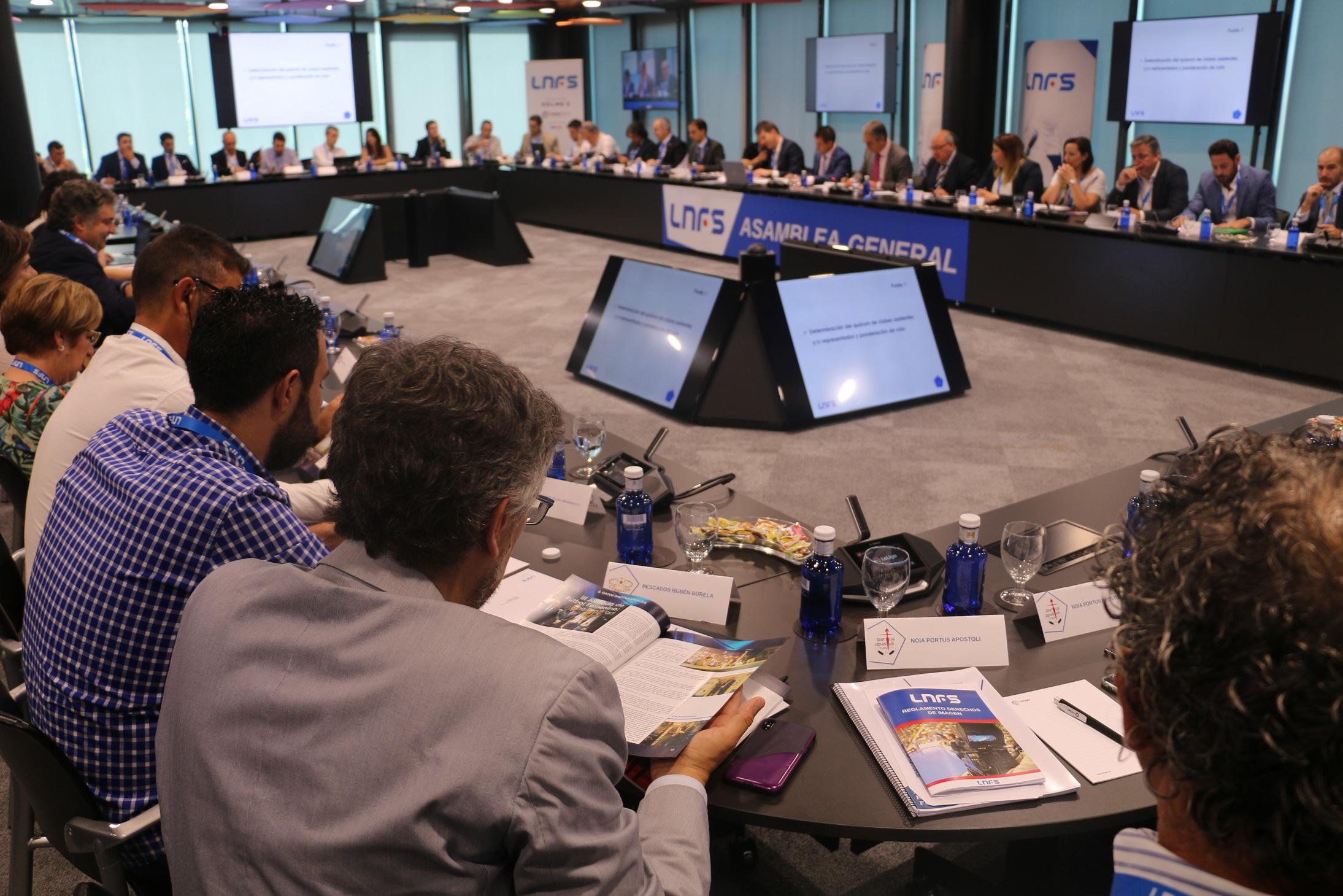 Imagen de la Asamblea General de la LNFS 1