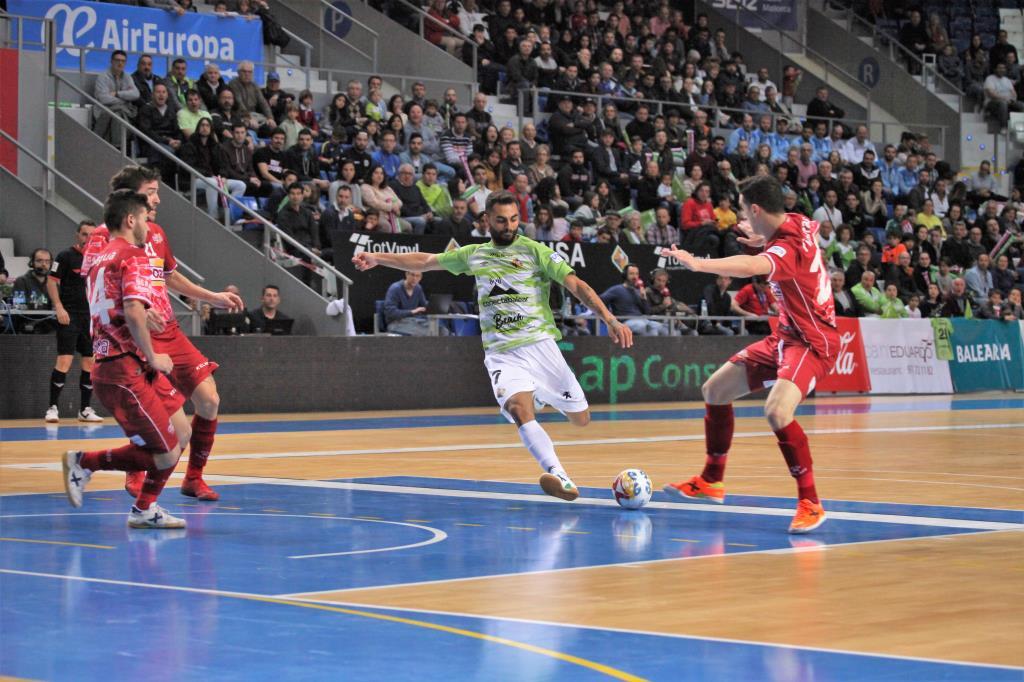 Imagen de la victoria del Palma Futsal ante ElPozo en Son Moix en la pasada temproada 1