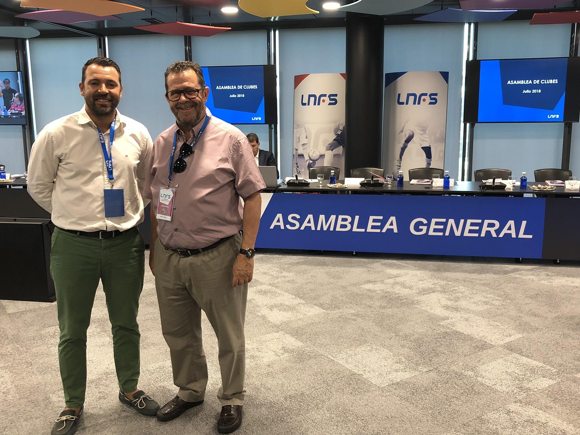 Miquel Jaume y José Tirado asistieron a la Asamblea General de la LNFS