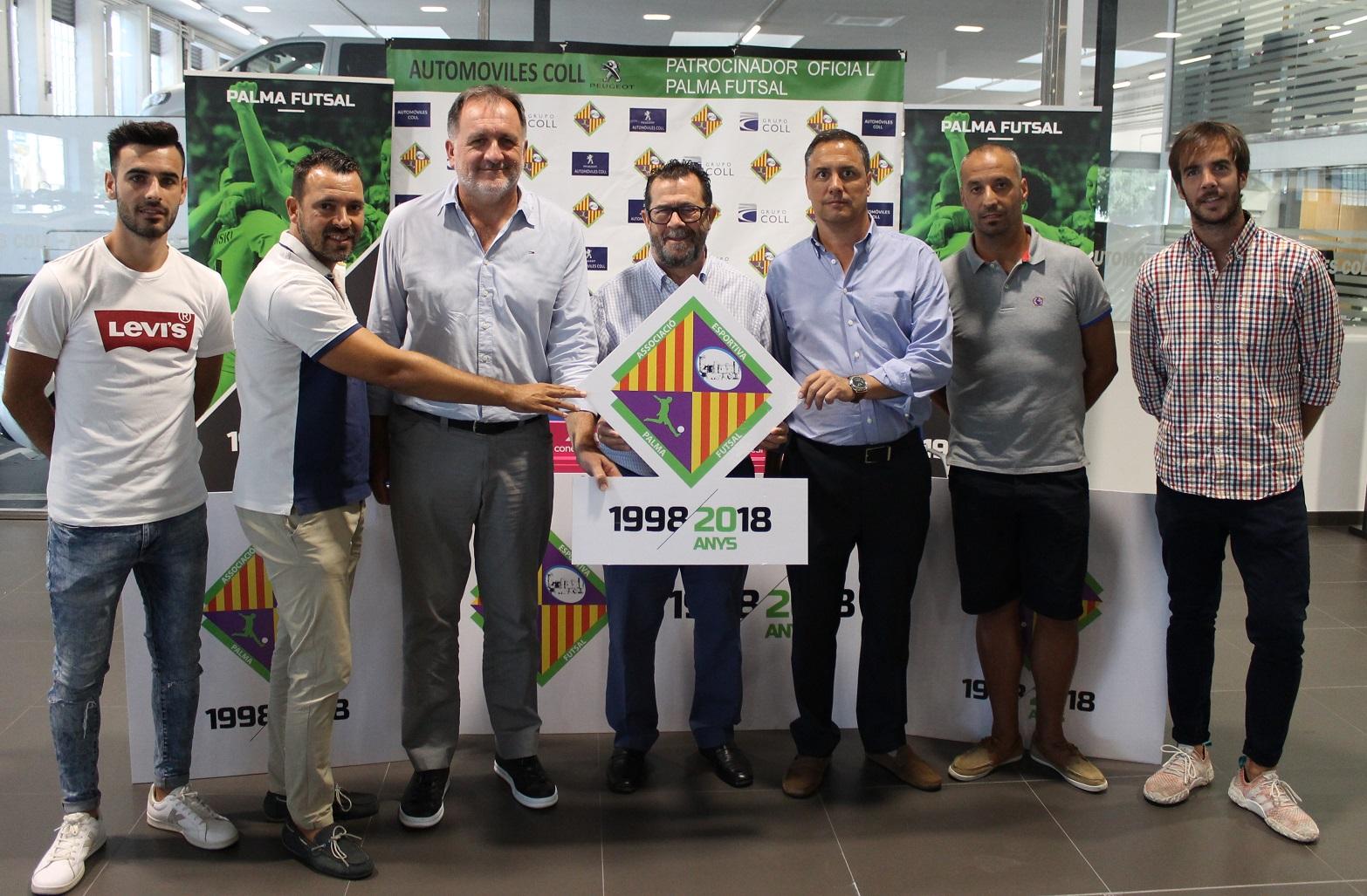 web El Palma Futsal presentó los actos del 20 aniversario en las instalaciones de Automóviles Coll (1)