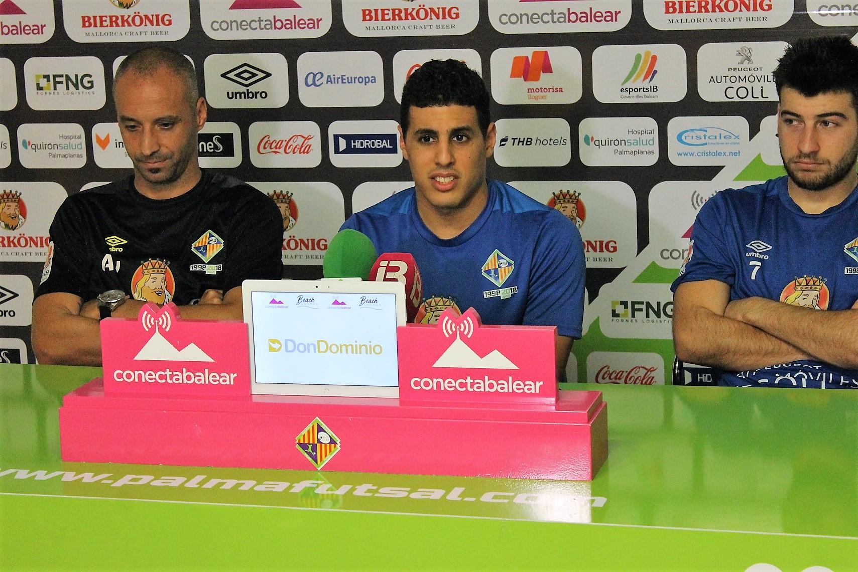 Vadillo, Hamza y Catela en la rueda de prensa previa al debut copero (2)