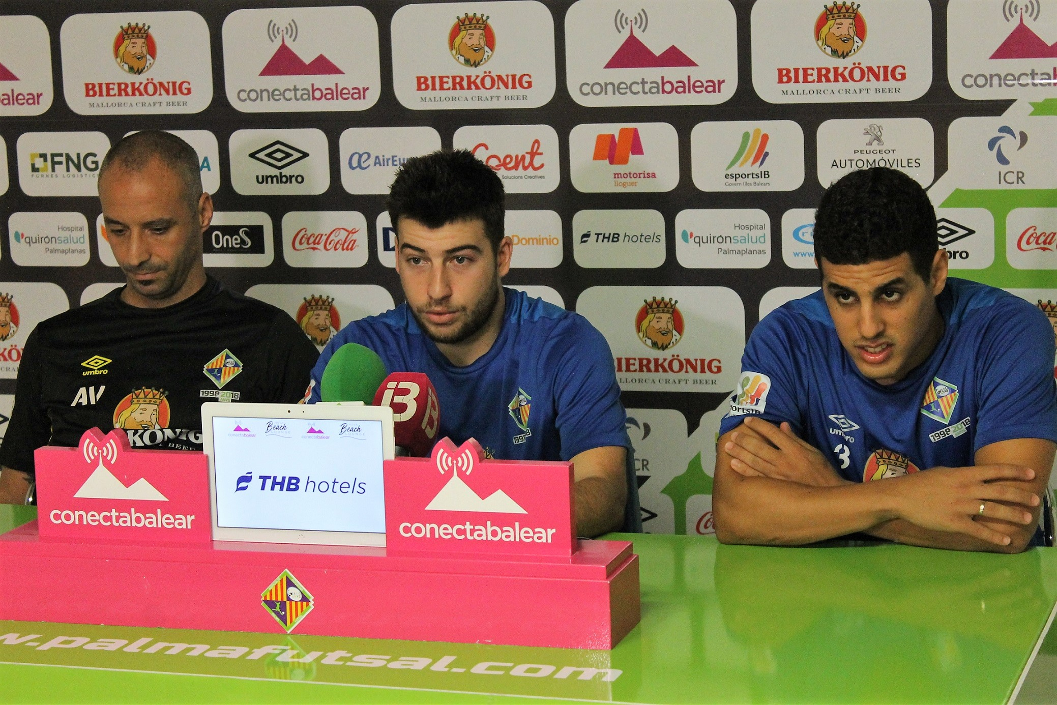 Vadillo, Hamza y Catela en la rueda de prensa previa al debut copero (3)