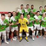 web El Palma Futsal feliz tras la victoria