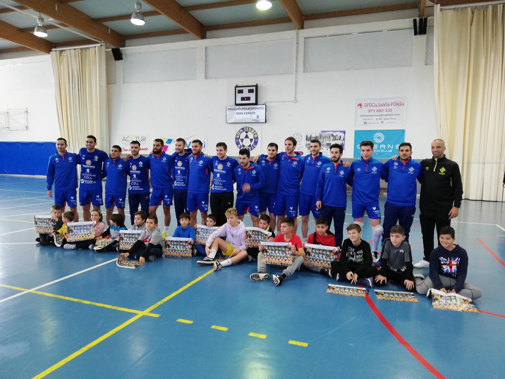 El Palma Futsal se entrenó este domingo en Son Ferrer (4)